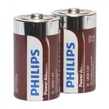 PHILIPS POWER ALKALINE PILA D LR20 BLISTER2