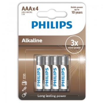 PHILIPS ALKALINE PILA AAA LR03 BLISTER4