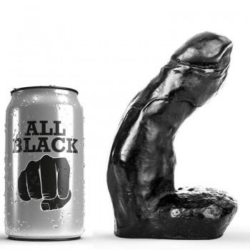 ALL BLACK DILDO REALISTICO 15CM