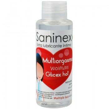 SANINEX MULTIORGASMIC WOMAN GLICEX HOT 4 EN 1 100 ML