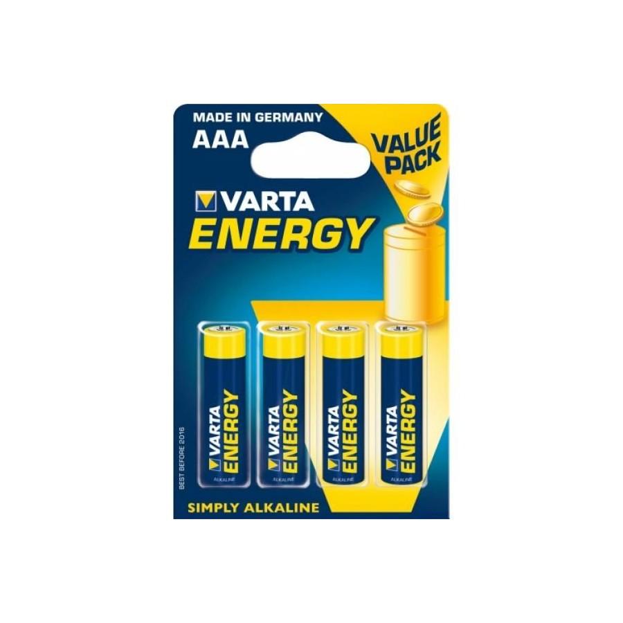 VARTA ENERGY PILA ALCALINA AAA LR03 BLISTER4